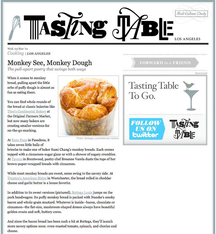 Monkey bread photo featured on Tasting Table LA