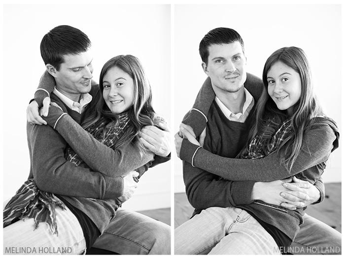 Justin, Alijah, B/W, hug